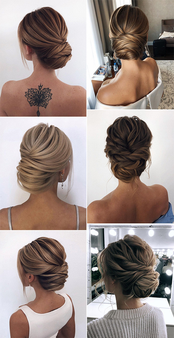 20 Classic Updo Wedding Hairstyles From Oksana On Instagram Oh Best Day Ever Classic Updo Hair Styles Bride Hairstyles