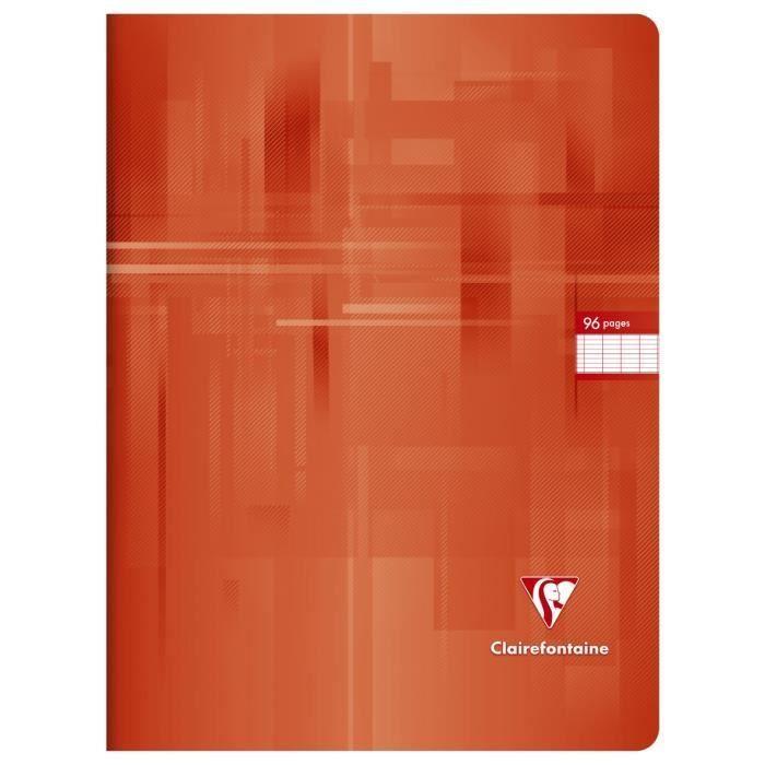 CLAIREFONTAINE – Carnet de notes – 24 x 32 – 96 pages Seyès – Couverture de film – Rouge   – Products