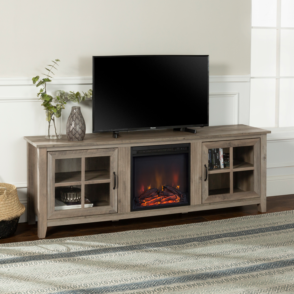 Home Fireplace tv stand, Fireplace tv, Tv stand with