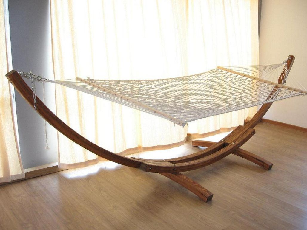hammock chair stands diy home goods upholstered chairs build indoor stand craft ideas pinterest