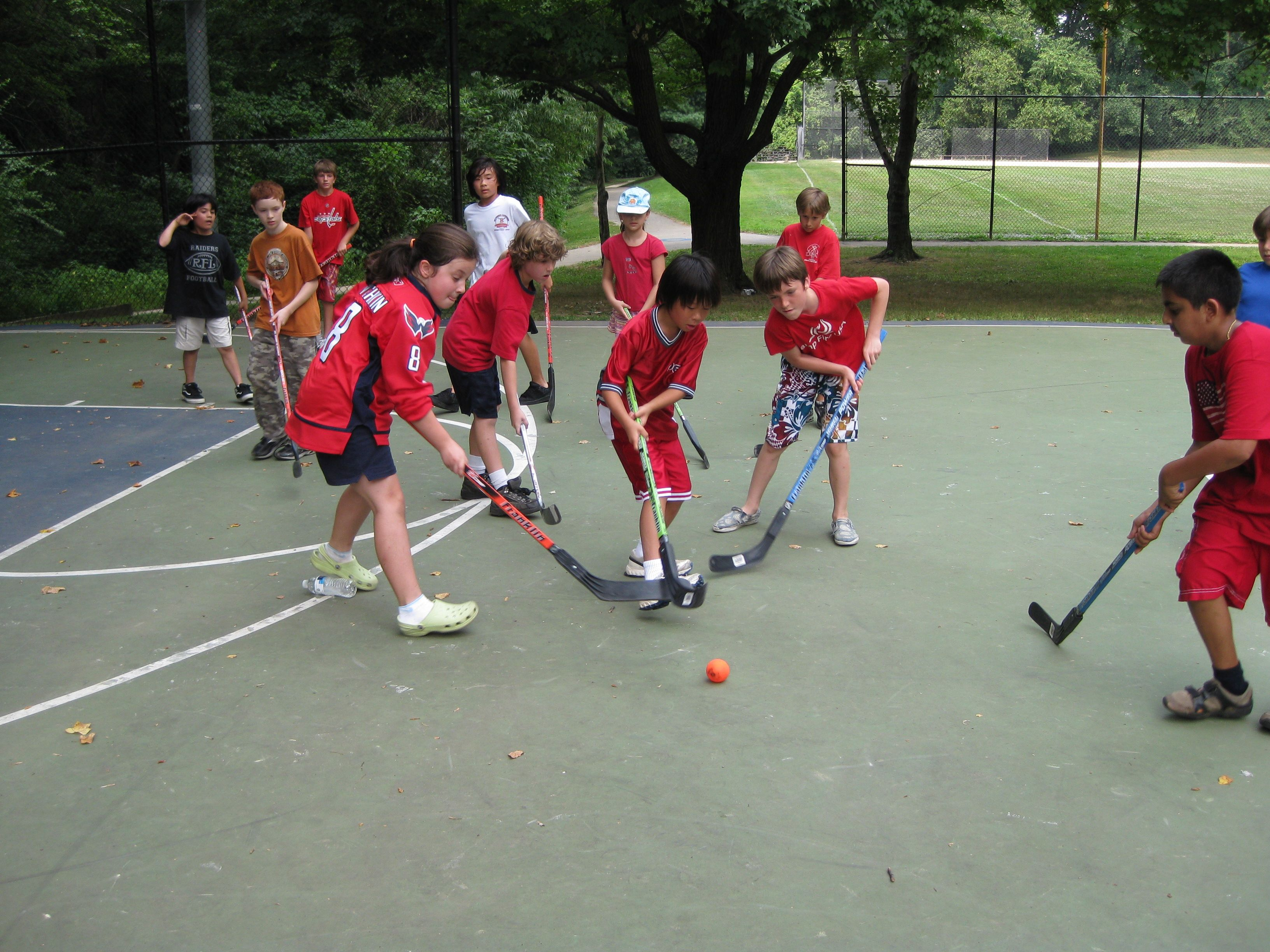 Multisports Camps Playing Street Hockey Register At Http Www Rockvillemd Gov Camps Street Hockey Summer Camp Camping