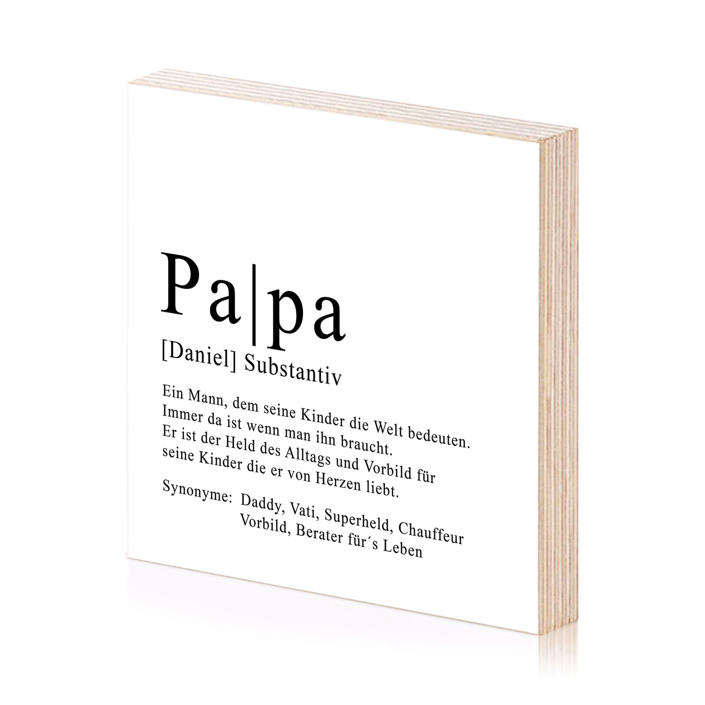 Papa Definition Personalisiertes Bild Aus Holz Zum Hinstellen Oder