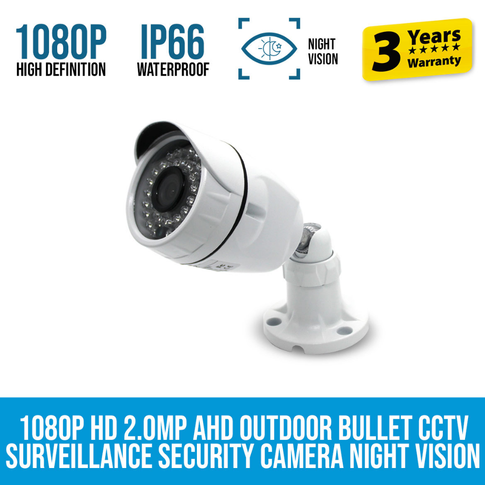 1080p Hd 2 0mp Bullet Cctv Security Camera Night Vision Elinz Cctv Security Cameras Security Camera Night Vision