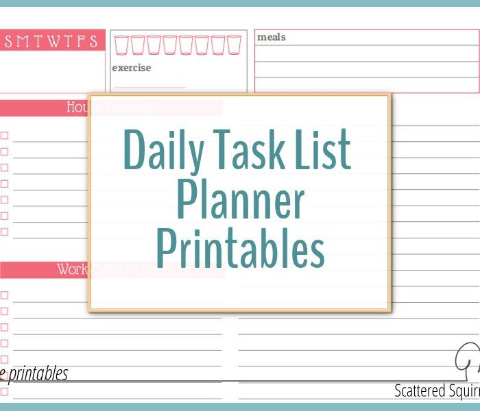 Use a Daily Task List Planner to Avoid Feeling Overwhelmed by Your ...