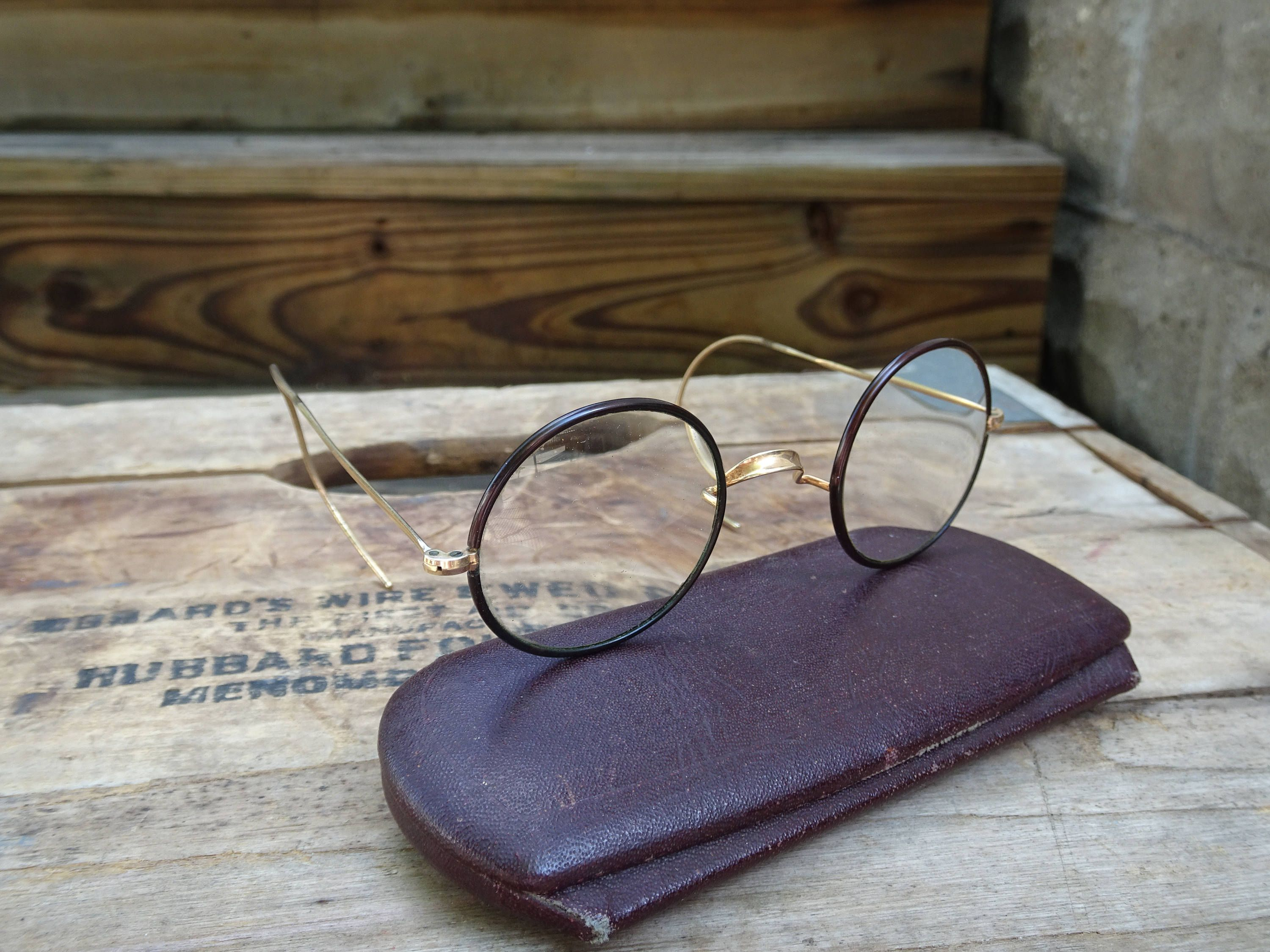 9315632044 Vintage Shuron Round Windsor Style Gold Filled Eyeglasses