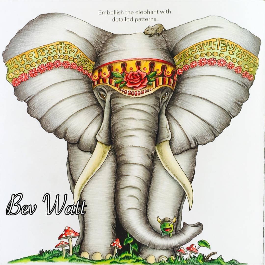 #Animorphia #elephant #animorphiacolouringbook #kerbyrosanes #prismacolor #coloring