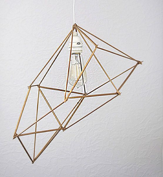 How to create an inspired 30 minute Geometric Pendant Lamp.