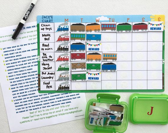 Train weekly chart dry erase task chart sticker chart chore chart blank write on kids reward chart laminated goal chart custom sticker chart