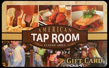 American Tap Room Gift Cards Tap Room Gift Card Cards