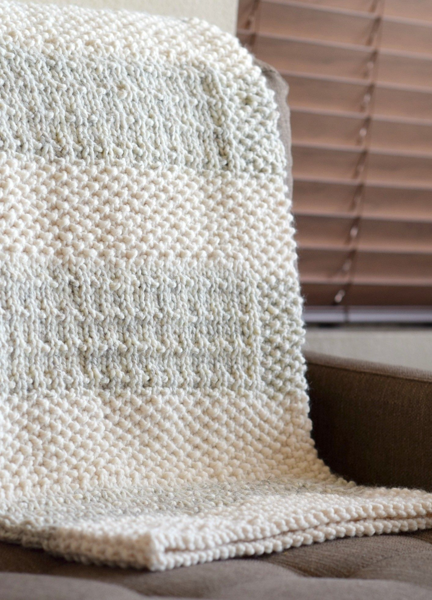 Knit Kit - Easy Heirloom Knit Blanket | Cobija y Hola