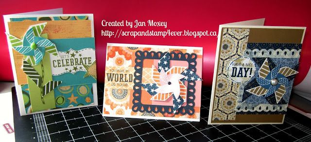More Than a Little Ink ... Celebrating creativity with Jan Moxey through the paper arts.: Pinwheel Stamp - Three Ways using a Card Formula