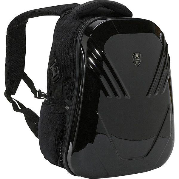 J World New York Tuttle Hardshell Laptop Backpack ($73) ❤ liked on Polyvore featuring bags, backpacks, black, laptop backpacks, black laptop backpack, padded backpack, backpacks bags, backpack laptop bag and black mesh backpack