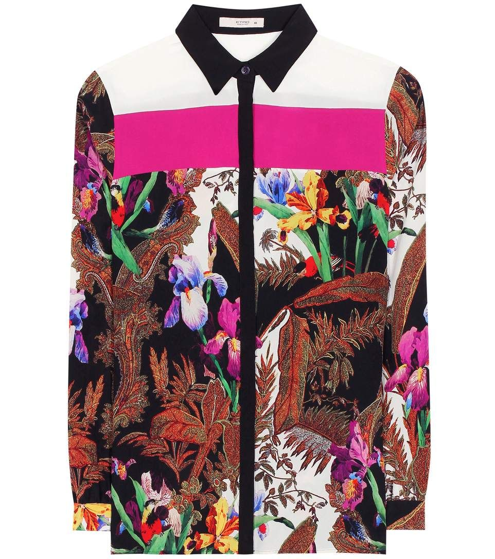 ad14b3379558ec ETRO 印花真丝衬衫. #etro #cloth #上装 | Etro | Shirts, Black ...