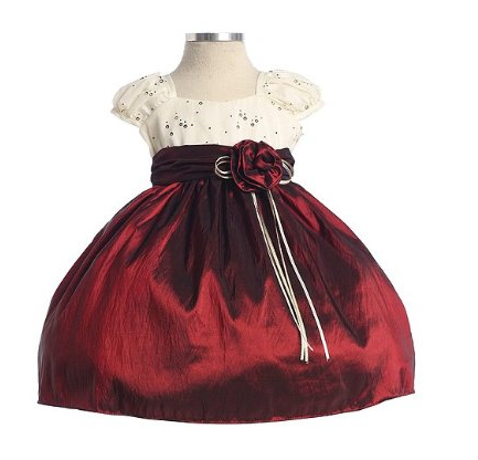 Baby Girls Burgundy Ivory Christmas Holiday Dress 18 month $39.99 ...