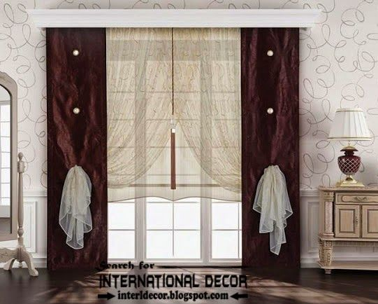 Best contemporary curtain designs 2016 curtain ideas colors, brown ...