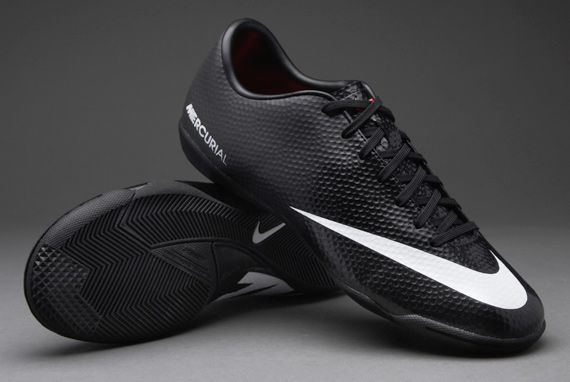 Nike Football Boots - Nike Mercurial Victory IV Indoor - Soccer Cleats -  Black-White 26f4642aa0f37