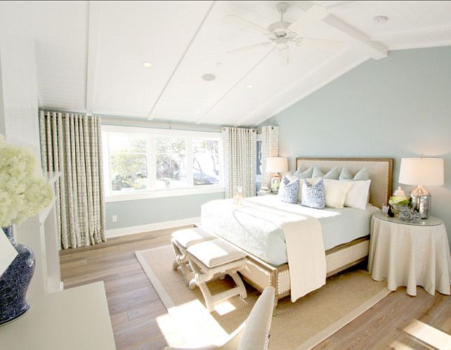 bedroom. seafoam bedroom. bedroom with seafoam paint color and