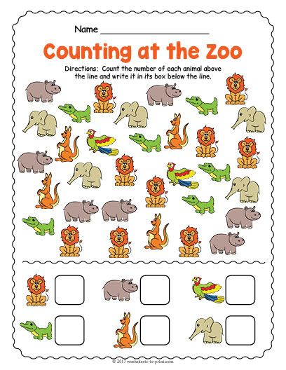 image regarding Printable Zoo Animals identified as Pin upon Counting Worksheets