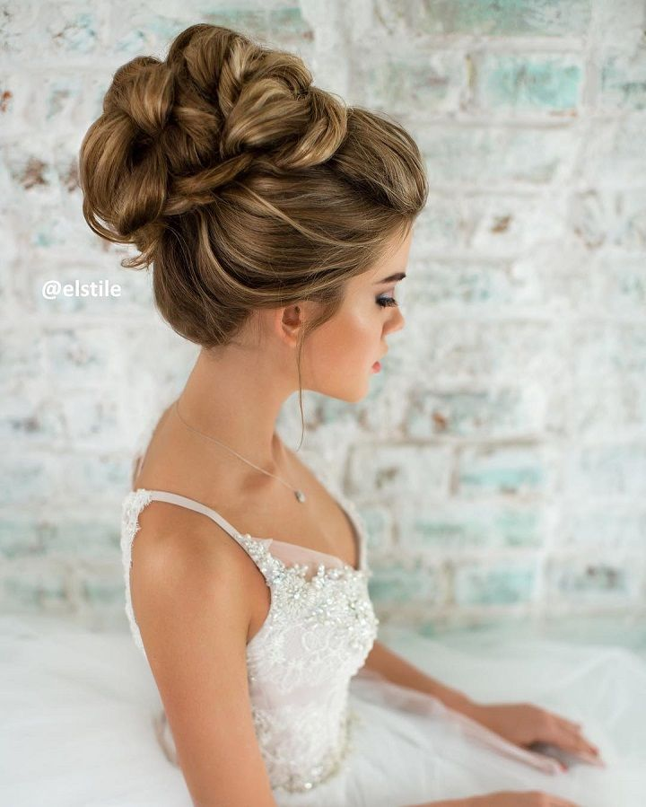 Curyly Bridal Hairstyle Updo Curly Hair Styles Naturally Long Hair Styles Wedding Hair Inspiration