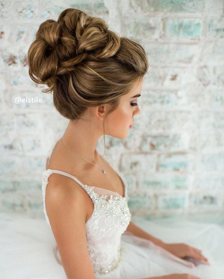 Curyly Bridal Hairstyle Updo Bridal Hair Updo Bride Hairstyles