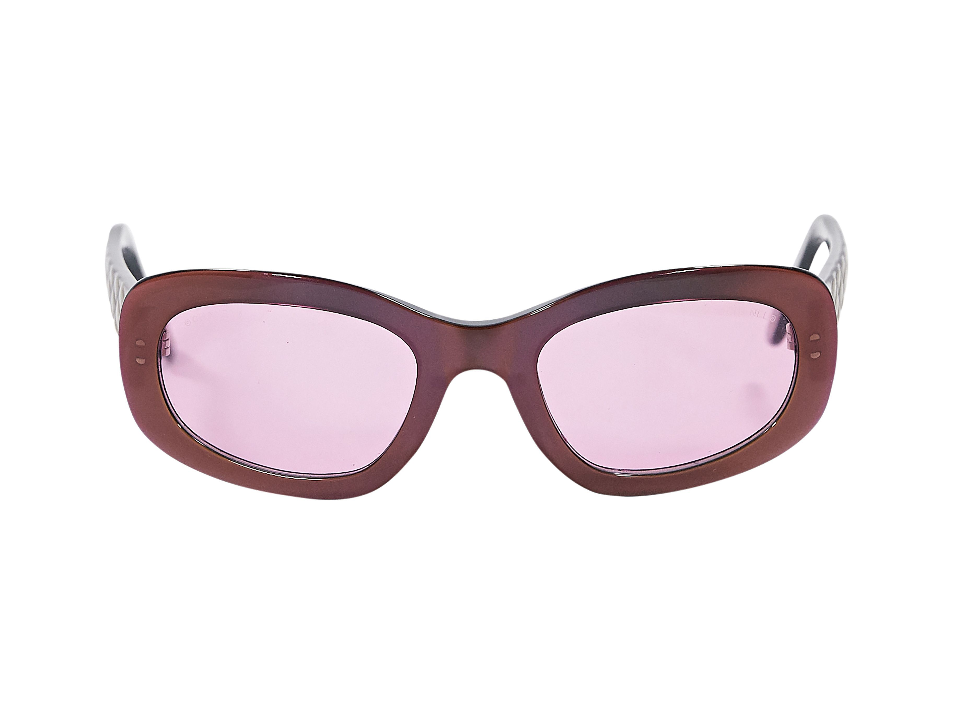 5c98413288 Burgundy Chanel Quilted Sunglasses