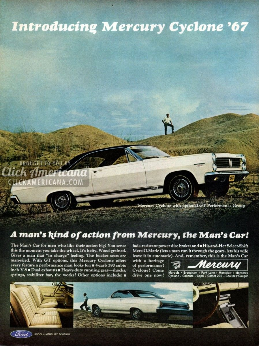 Mercury, the Man's Car (1966) - Not sexist at all... =p lol