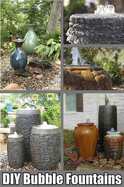 Bubble Fountain In A Pot Easy Diy Water Feature Fountains Outdoor Water Features In The Garden