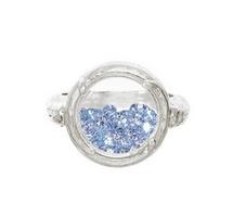 Catherine Weitzman Sterling Silver Blue Topaz Shaker Ring