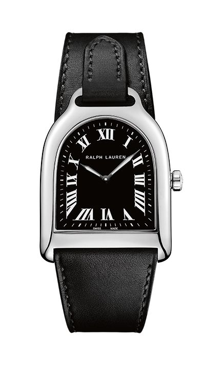 595c91606f3a Montres Stirrup small steel with black dial Ralph lauren   Maier ...
