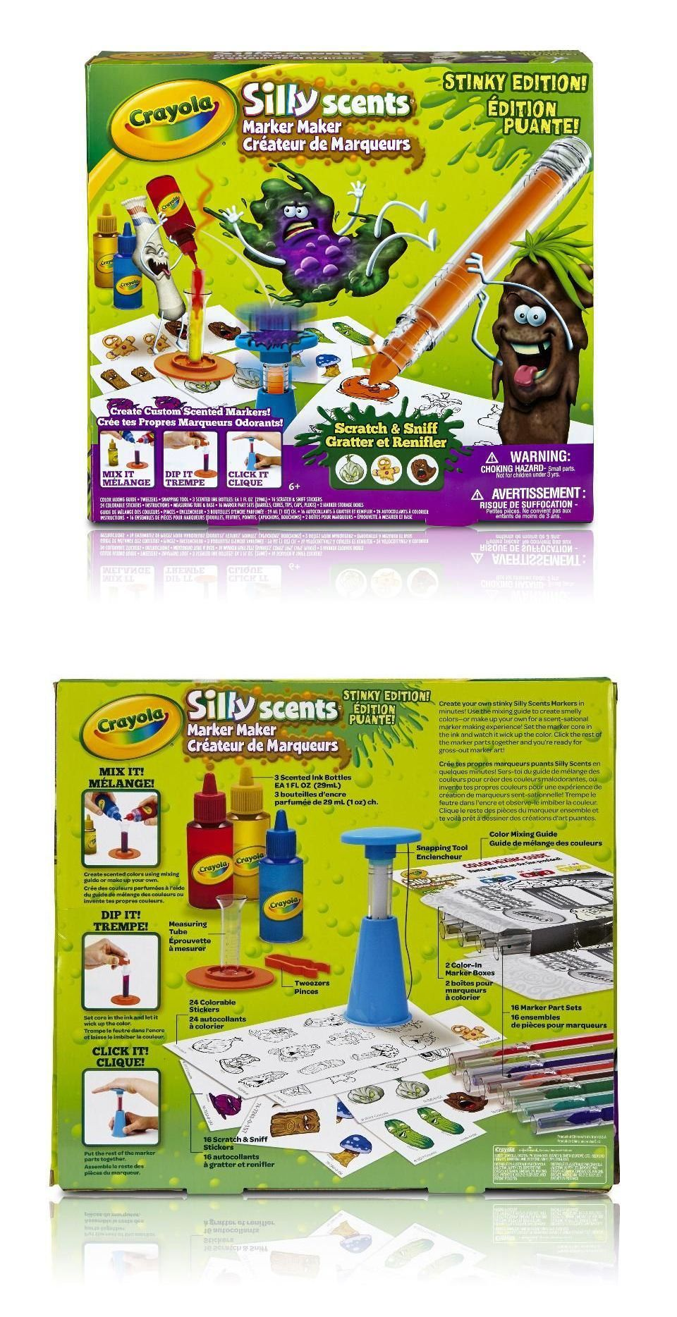 Pens and Markers 116656: Crayola Silly Scents Marker Maker Set ...