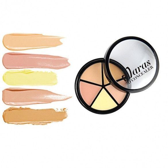 New 5 Colors Concealer Contour Palette Contouring Makeup Concealer Cream Palette For Face Makeup