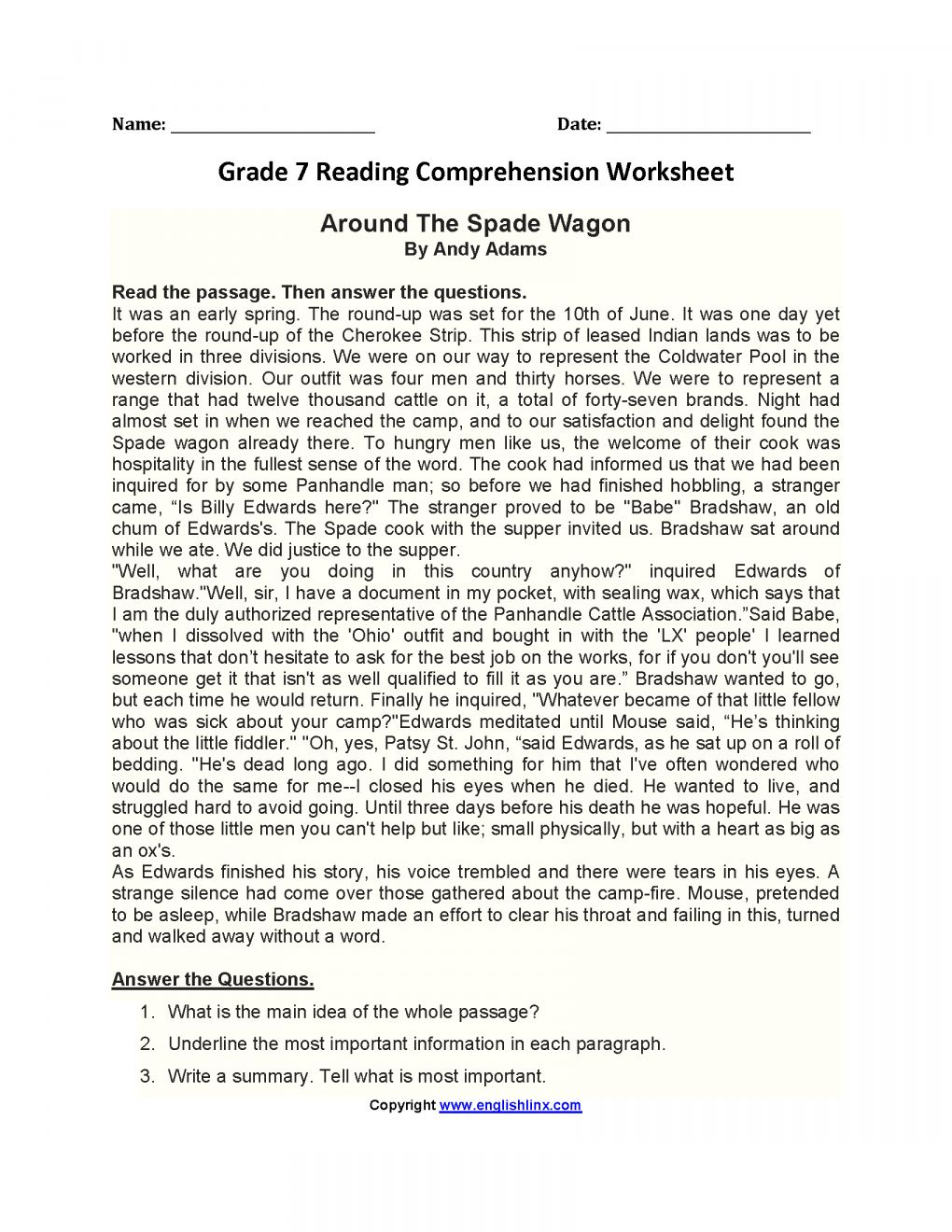 Pin On Reading Worksheets