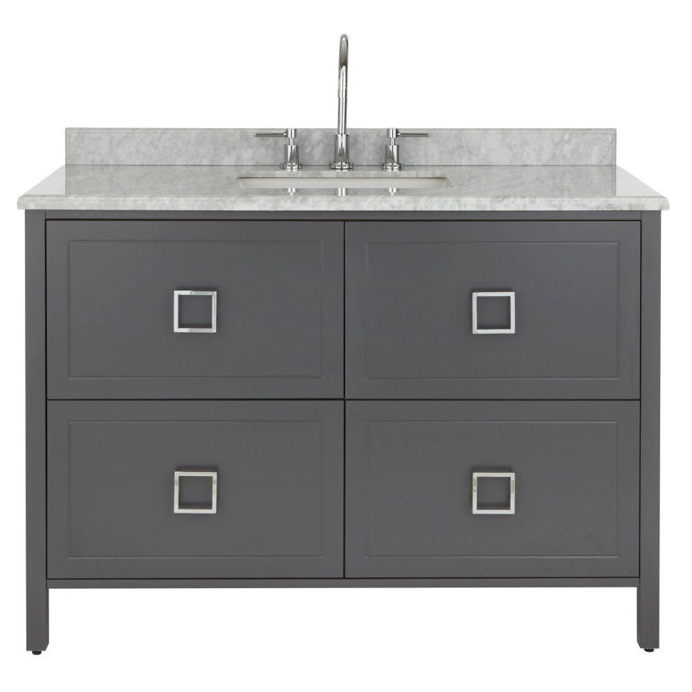 Home Decorators Collection Drexel 48 In W Vanity In Charcoal With