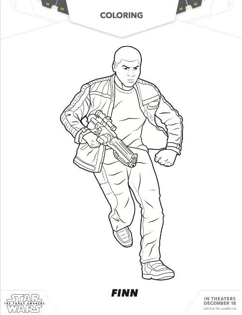Free Star Wars Finn Coloring Pages Star Wars The Force Awakens