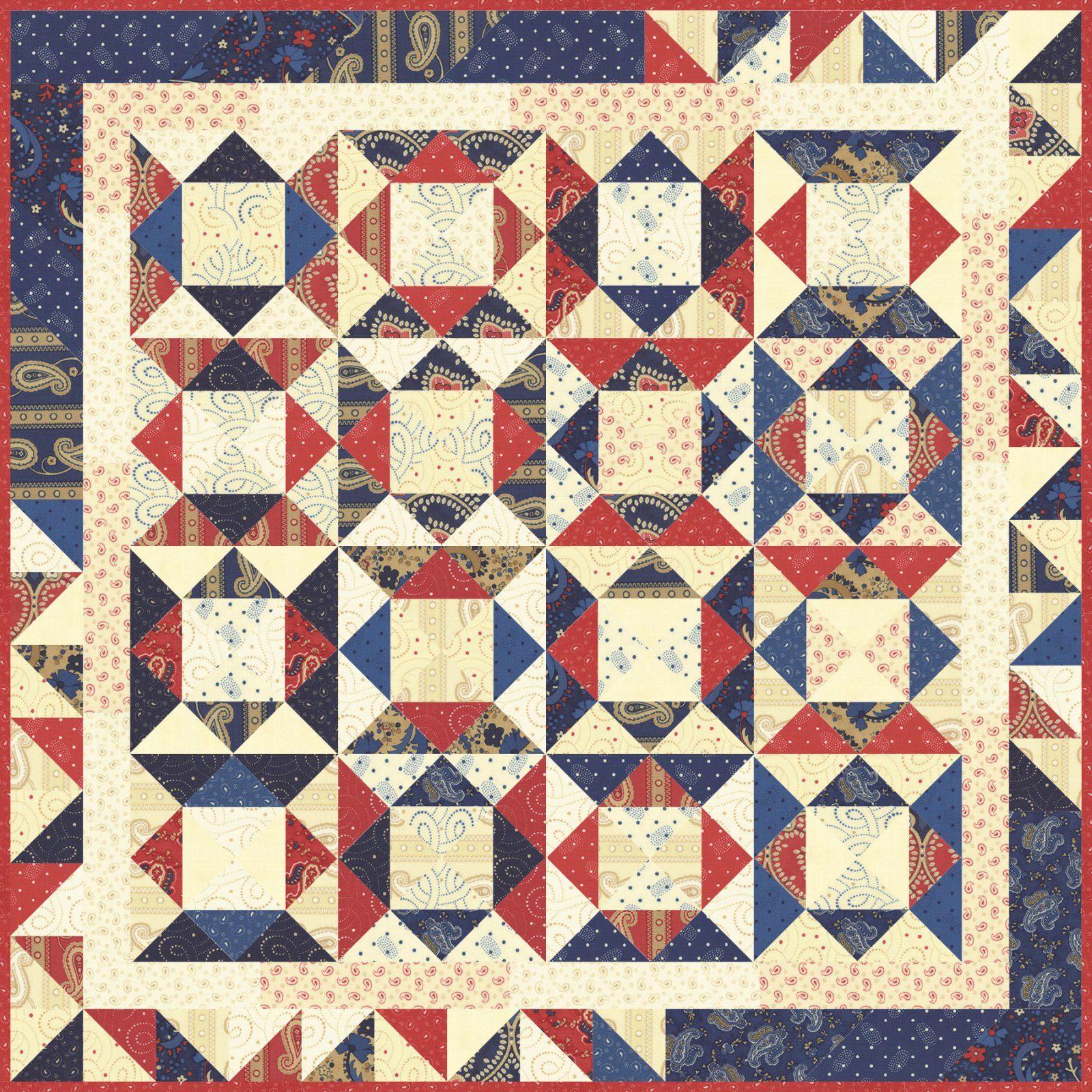 Moda Fabric Online Quilt Store Pre-Cut Fabric Kits & Patterns from ... : polka dot quilt pattern - Adamdwight.com