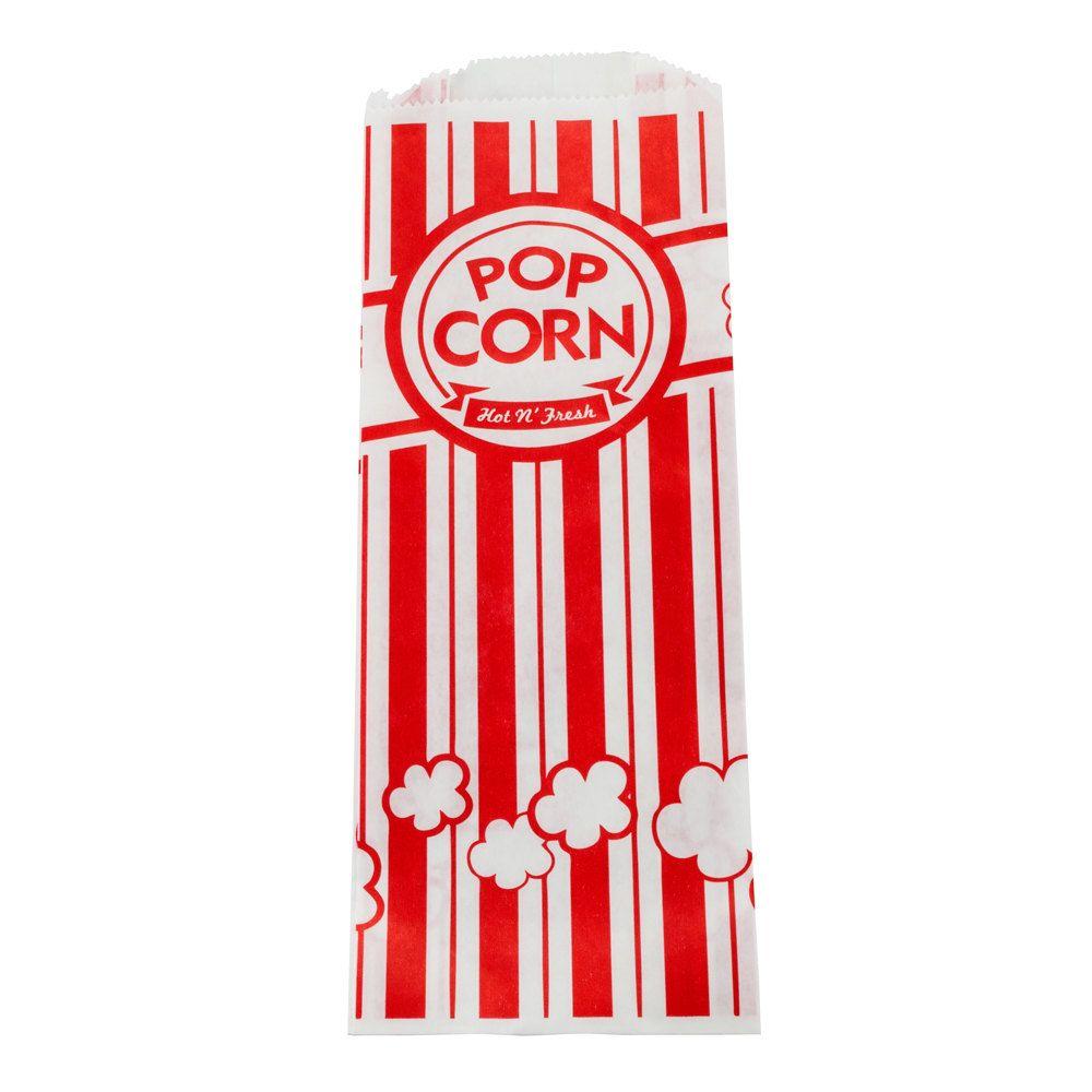 """Carnival King 3 3/4"""" x 1 3/4"""" x 9 1/2"""" Popcorn Bag - 1000 / Case"""