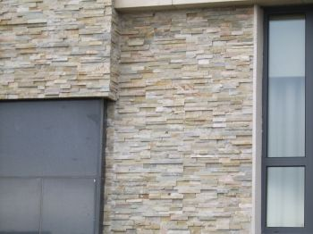 Decoration Cool Stone Cladding Installed Over Side Wall Of Donoso ...