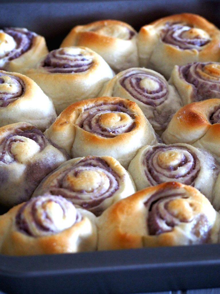Photo of Ube ( Purple Yam ) Bread Rolls – Woman Scribbles