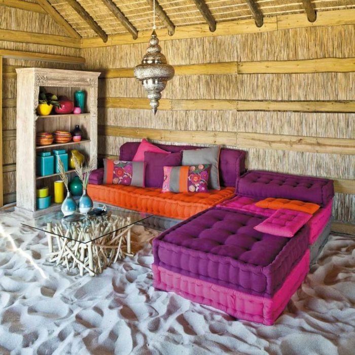 Le salon marocain de mille et une nuits en 50 photos salons marocains les salons marocains for Peinture salon maroc violet