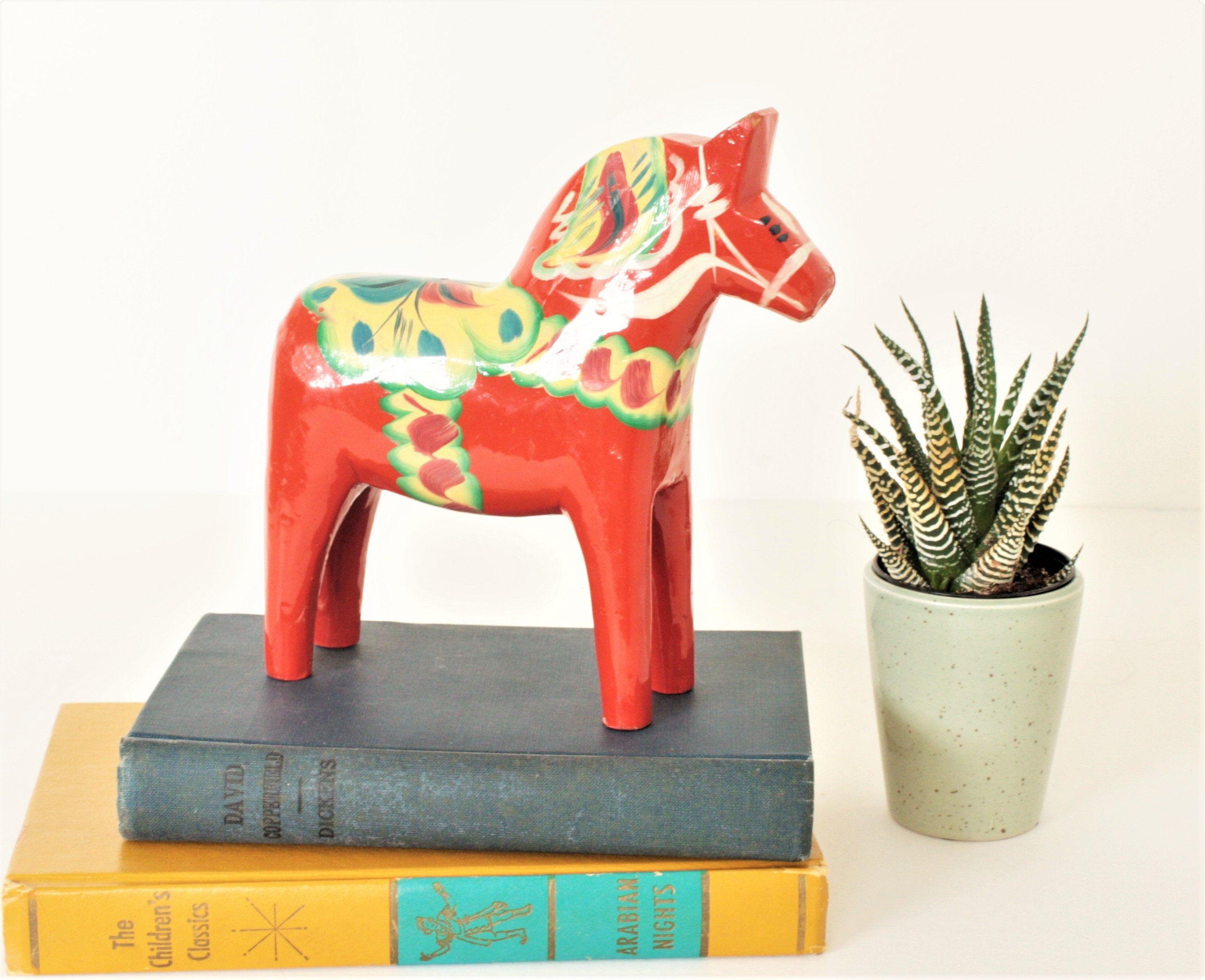 Vintage Olsson Red Dala Horse 6 5 Inch Vintage Swedish Wood Etsy In 2020 Dala Horse Vintage Sales Vintage Linens