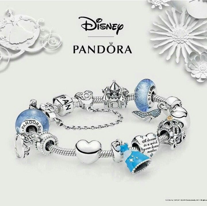 Disney Cinderella Pandora Bracelet New Charms Jewelry Beads
