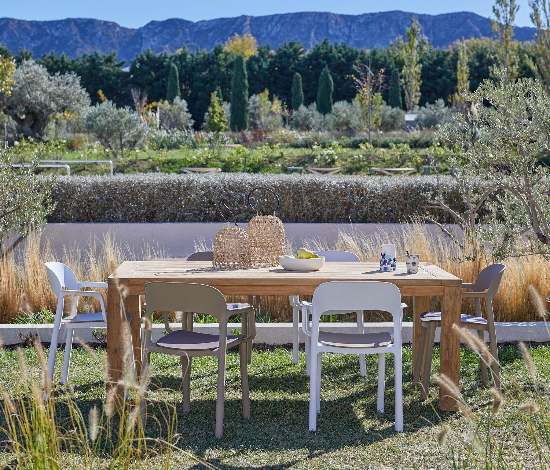 Table De Jardin Naterial Niagara 5 Lames Rectangulaire Gris 6 X2f 8 Personnes Leroy Merlin Table De Jardin Table De Jardin Blanche Table Salle A Manger