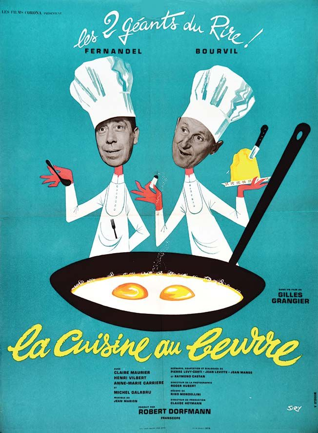 La Cuisine au Beurre Fernandel & BourvilGrand film 1963 ...