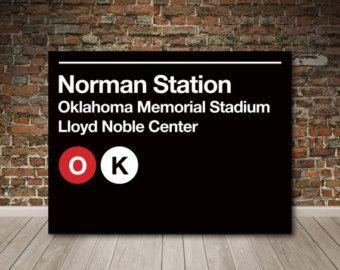 Norman Oklahoma Subway Sign Canvas (OU)