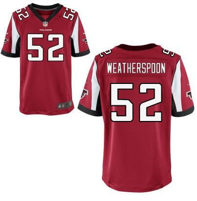 Men s Atlanta Falcons  52 Sean Weatherspoon Red Team Color NFL Nike Elite  Jersey edb622138