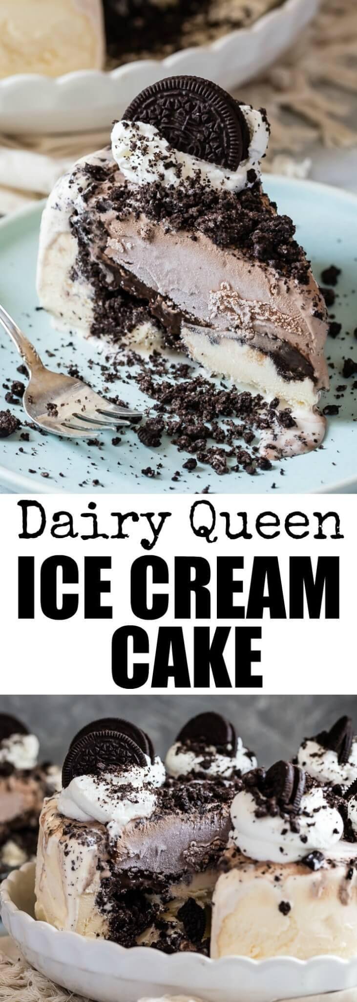 Easy ice cream cake dq copycat culinary hill recipe