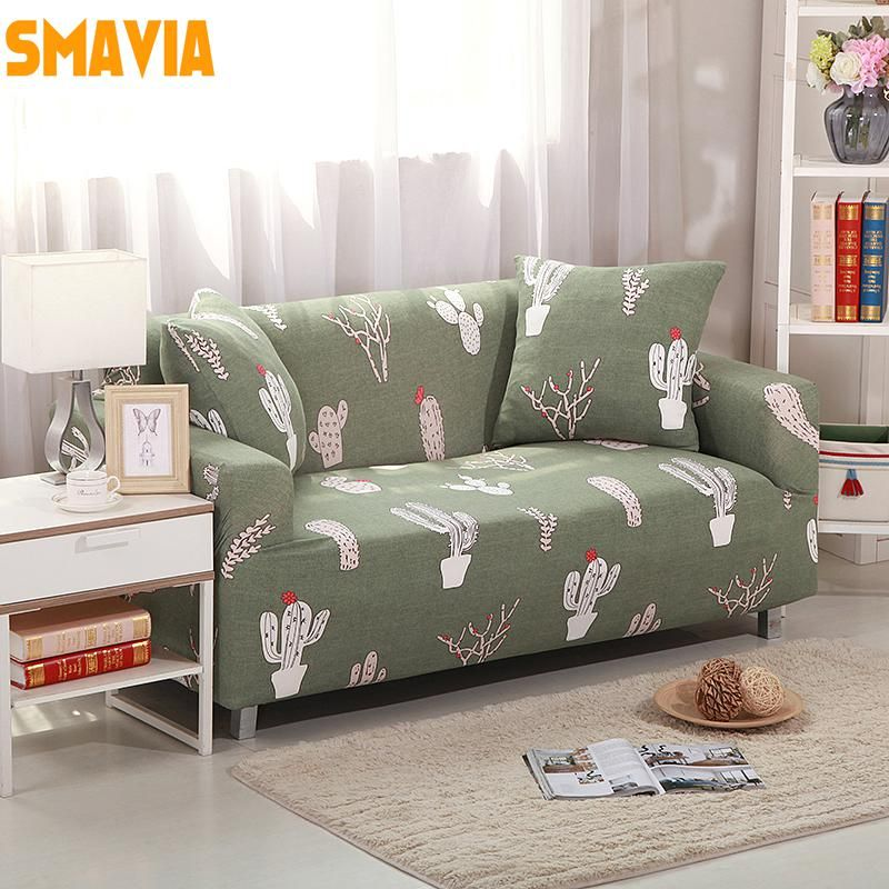 Smavia Small Fish Printed Sofa Cover Elasticity Flexible Couch Cover Full Cover Love Seat Furniture Cover Machine Washabl Printed Sofa Sofa Covers Couch Covers