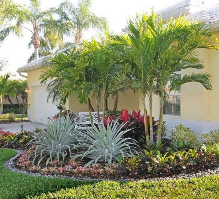 40+ Handsome Tropical Front Yard Landscape Ideas For Your