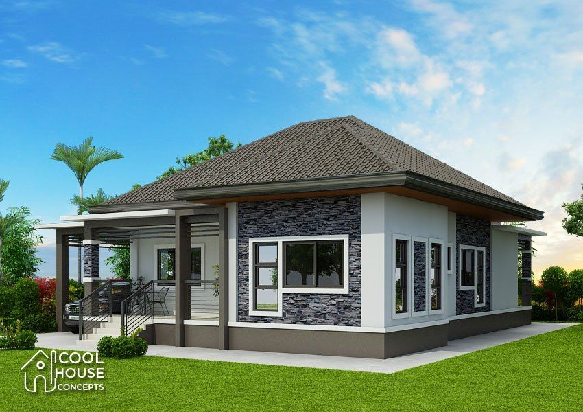 Home Design Plan 15x20m With 3 Bedrooms Home Design With Plan Modern Bungalow House One Storey House Affordable House Plans