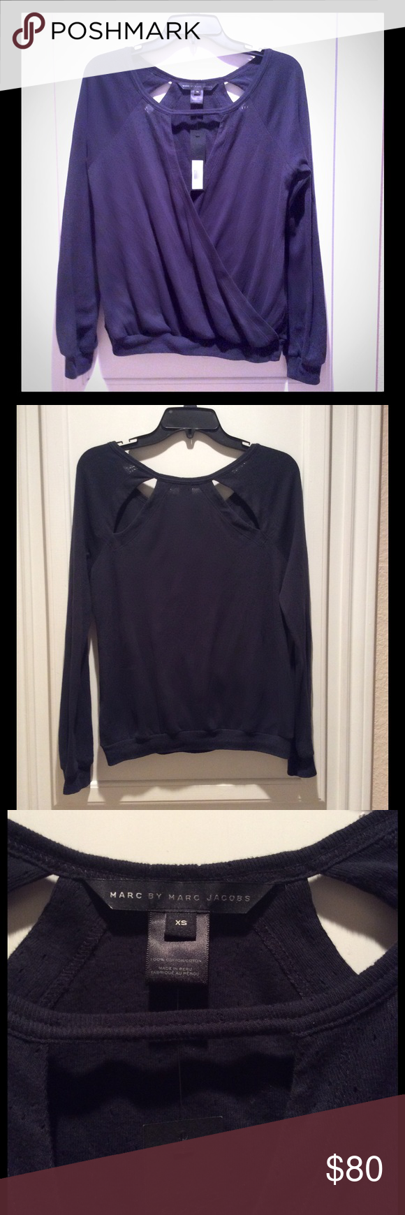 ❗️SALE❗️Marc by Marc Jacobs Normandy Blue Sweater NWT | D ...